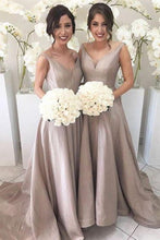 Gray/Grey Bridesmaid Dresses,Simple Bridesmaid Dresses,Long Bridesmaid Dresses,Fs064