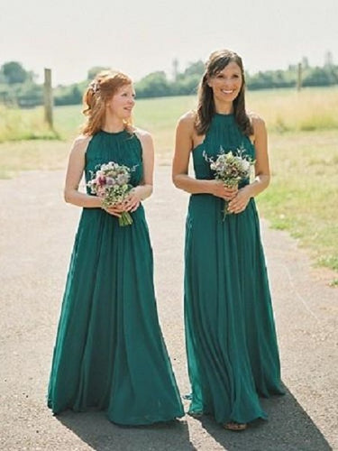 Green Bridesmaid Dresses,Country Bridesmaid Dresses,Long Bridesmaid Dresses,Bridesmaid Dresses Green,FS088-Dolly Gown