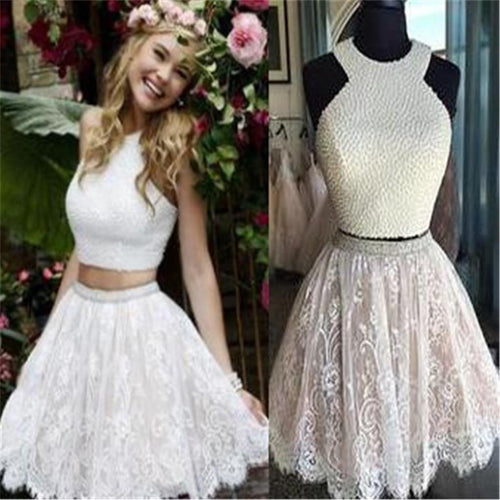 Two Piece Homecoming Dress,Short Formal Dress,Graduation Dress,Short Prom Dresses,SSD008