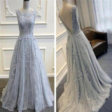 Lace Prom Dress,Grey Prom Dress,Lace Formal Dresses for Wedding,FS051-Dolly Gown