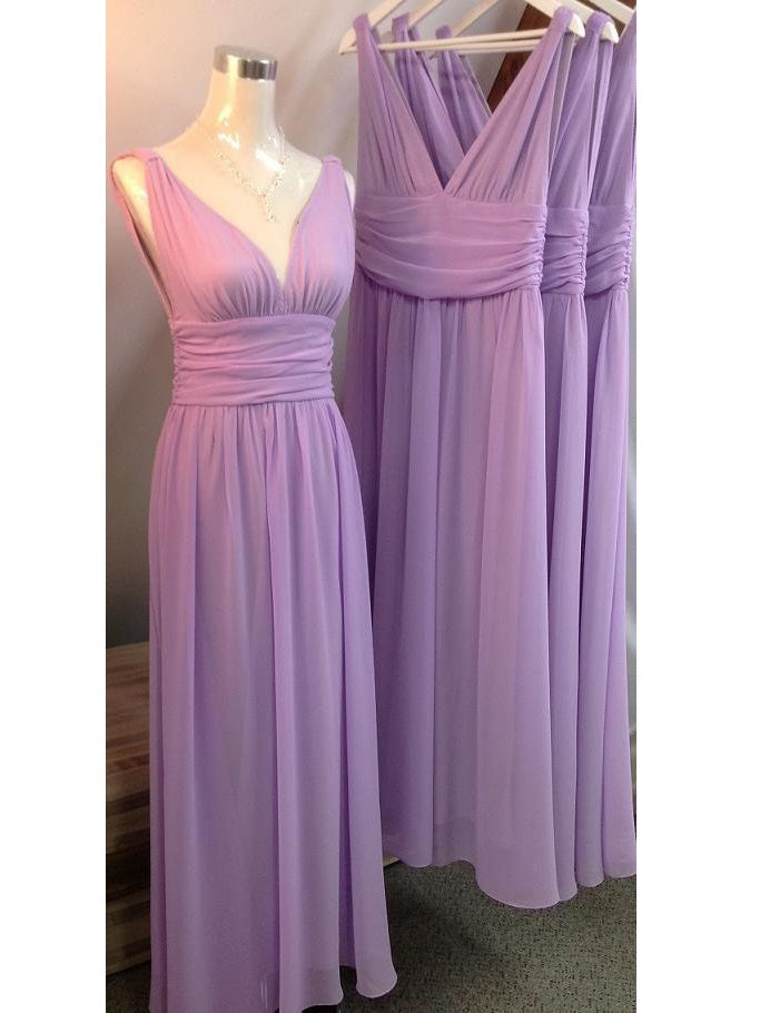 Lavender Bridesmaid Dresses Long Ruched Bridesmaid Dresses under 100,FS073-Dolly Gown