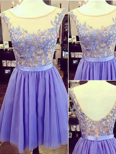 Lavender Homecoming Dress Prom Dress For Teens Freshmen Homecoming Dress Graduation Dress,MA094-Dolly Gown