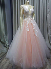 Lavender Tulle Princess Plunge V neck Formal Dress Puffy Prom Dress,GDC1289-Dolly Gown