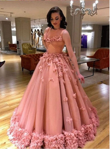 Luxury Colored Tulle Illusion Neck Wedding Dress with Delicate Ruffles Hem GDC1249
