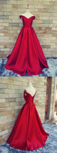 Red Prom Dress,Off Shoulder Prom Dress,Prom Dress Long,Prom Dress Ball Gown,MA001
