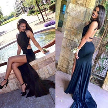 Backless Prom Dress,Robe De Soirée Black,Long Prom Gown,Cheap Prom Dress,MA017