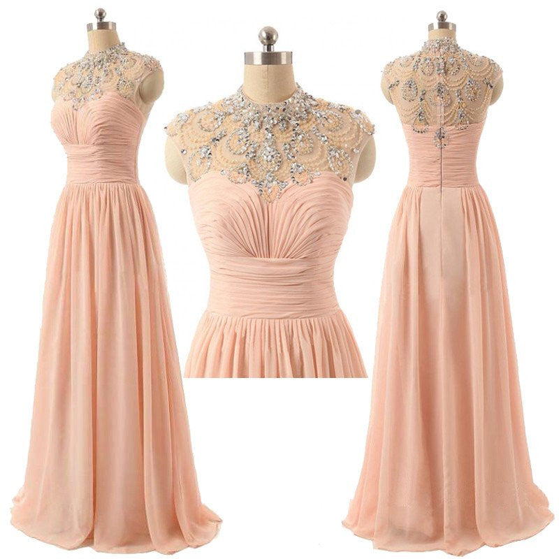 Pink Prom Dress,Pink Evening Dress,Long Prom Dress,Long Formal Dress,MA042-Dolly Gown