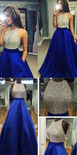 Royal Blue Prom Dress, Sparkly Prom Dress,2017 Prom Dress,Prom Dress Graduacion,MA045