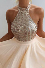 Champagne Short Prom Dress for Teens Short Homecoming Dress Backless Homecoming Dress MA074-Dolly Gown
