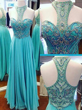 Tiffany Blue Prom Dress,Unique Prom Dress,Long Prom Dress,Robe De Soirée Bleu,MA107