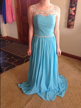Blue Prom Gown,Prom Dress Long,Fashion Prom Dress,Chiffon Prom Dress,2017 Prom Dress,MA119