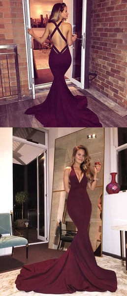 Hipster Prom Dress,Burgundy Prom Dress,Long Prom Dress,Fit And Flare Prom Dress,MA184