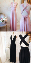 Convertible Prom Dress,Convertiable Bridesmaid Dress,Pink Bridesmaid Dress,Infinite Bridesmaid Dress,MA185