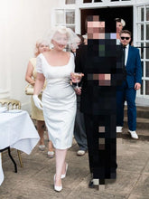 Marilyn Monroe Wedding Dress, Vintage Short Sheath Wedding Dress,20110229