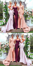 Mermaid Mismatched Different Color Long Bridesmaid Dresses,GDC1079-Dolly Gown
