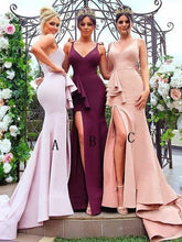 Mermaid Mismatched Different Color Long Bridesmaid Dresses,GDC1079