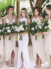 Mixed Boho Beach Summer Bridesmaid Dresses Beige Bridesmaid Dresses FS085