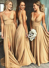 Modern Sexy Gold Bridesmaid Dresses,Long Bridesmaid Dresses,Shop Bridesmaid Dresses,GDC1047