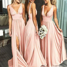 Modest Cheap Pink Sexy Jersey Long Bridesmaid Dresses,GDC1078