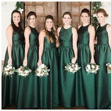 Modest High Neck Emerald Green Bridesmaid Dresses,Long Fall Bridesmaid Dresses,GDC1043-Dolly Gown
