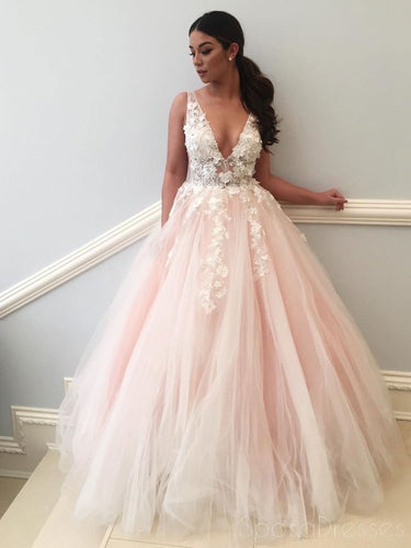 3064d78cbd8 Most Popular Floral V-neck Ball Gown Tulle Wedding Dress