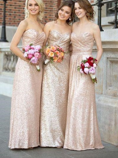 Nude Bridesmaid Dresses Sequin Bridesmaid Dresses Long Bridesmaid Dresses Nude FS097-Dolly Gown