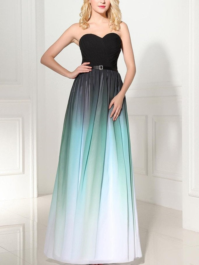 Ombre Chiffon Bridesmaid Dresses Long Bridesmaid Dress Strapless Bridesmaid Dresses 2021 Bridesmaid Dresses MA099-Dolly Gown