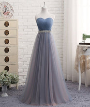 Prom Dresses,Tulle Strapless Prom Dress in Different Length with Rinestones Belt,201707205