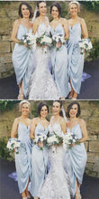 Pale Blue Boho Summer Chiffon Bridesmaid Dresses Bohemian Bridesmaid Dresses GDC1293-Dolly Gown