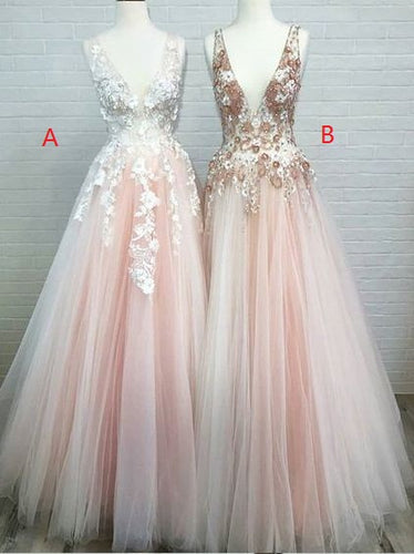 Pale Pink Tulle 2019 New Arrival Prom Dress, Occasion Party Dress,GDC1179