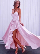 Pink Prom Dress, High Low Prom Dresses,GDC1067-Dolly Gown
