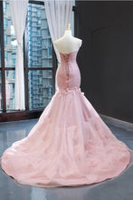 Pink Tulle Princess Wedding Dress Strapless Pink Long Prom Dress with ruffles Skirt,20081615-Dolly Gown
