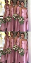 Pink Strapless High Low Bridesmaid Dresses, Brautjungfernkleider,GDC1027-Dolly Gown