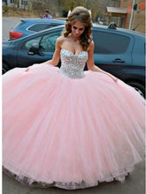 Princess Sparkly Beading Pink Ball Gown Tulle Prom Dress,Quinceanera dresses,GDC1202-Dolly Gown
