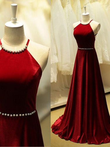 Red Simple Prom Dress Red Long Evening Dress Formal Dress Robe De Soirée Rouge,MA096-Dolly Gown