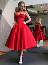 Red Short Bridesmaid Dresses,Vintage Red Prom Dress,GDC1163