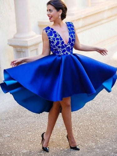 Royal Blue Short Prom Dress Blue Homecoming Dress Short Formal Dresses,MA027-Dolly Gown