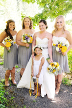 Rustic Short Tulle Two Color Strapless Bridesmaid Dress with Boots,Summer Bridesmaid Dress,20081803-Dolly Gown