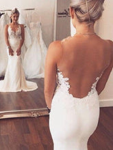Sexy Backless Wedding Dress See Through Wedding Dress Trumpet/Mermaid Wedding Dress WS051