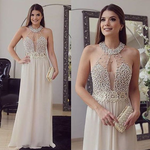 Sexy Bead Sparkly Evening Dress Long Formal Party Gown,GDC1011