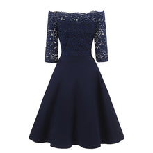 Shop Bridesmaid Dresses Short Lace Blue One Shoulder Lace homecoming Dress with Sleeves,1597N