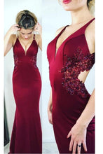 Shop Red Mermaid Prom Dress with Delicate Lace Appliques at Waist,GDC1348