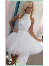 Short Prom Dress White Prom Dress Sweet 16 Dress Graduation Dress Short White Homecoming Dress MA102