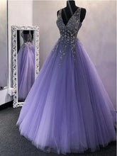 Sparkly Lavender Tulle Prom Dress Black Girls Slay Ball Gown Puffy Prom Dress #201222