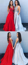 Sparkly  A-line Prom Dress with Pockets,Senior Graduation Formal Party Dress,GDC1177