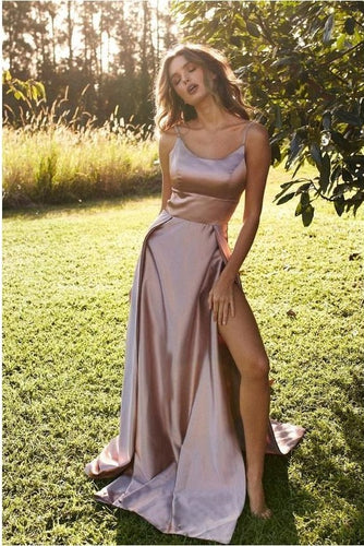 Stylish Side Slit Simple Long Prom Dress,Cheap Prom Dress,GDC1091
