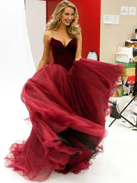 Super Stunning Princess Burgundy Ball Gown Prom Dress,Ball Gown Wedding Dress,GDC1040