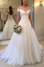Unique Country Tulle Off  Shoulders Bridal Gown Wedding Dress,GDC1154