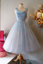Vintage Homecoming Dress 1950s Prom Dress Homecoming Dress Vintage Blue Homecoming Dress Vintage Prom Dress SSD010