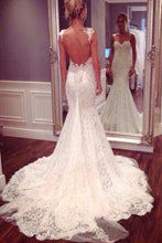 Mermaid Wedding Dress,Trumpet Wedding Dress,Lace Wedding Dress,Backless Wedding Dress,WS066